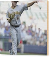 Pittsburgh Pirates V Milwaukee Brewers Wood Print