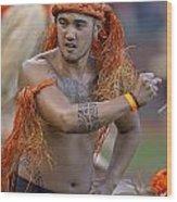 Polynesian Dancers Wood Print