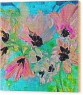 Poppies In Situ Wood Print