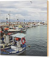 Port Of Aegina Wood Print