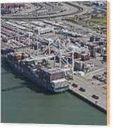 Port Of Oakland, Oakland Wood Print