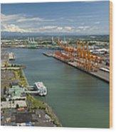 Port Of Tacoma, Tacoma Wood Print