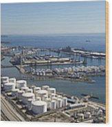 Port Of Tarragona, Catalonia Wood Print