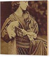 Portrait Of Jane Morris Wood Print