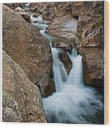 Poudre River Falls Fort Collins Wood Print