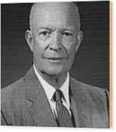 President Dwight Eisenhower - Four Wood Print