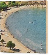 Psili Ammos Beach In Serifos Island Wood Print