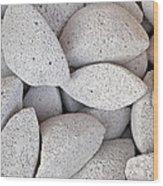 Pumice Lava Rocks Wood Print