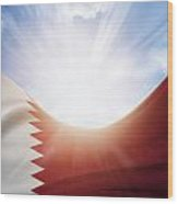 Qatar Flag Wood Print
