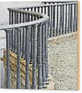 Railings Wood Print