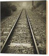 Railway Tracks Wood Print
