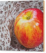 Red And Yellow Apple Wood Print