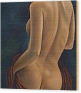 Red Silk Wood Print
