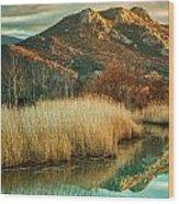 Reginu River And Punta Di Paraso Wood Print