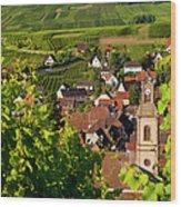 Riquewihr Alsace Wood Print by Brian Jannsen