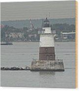 Robbins Reef Lighthouse Wood Print