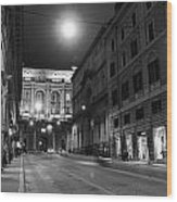 Roma By Night Wood Print