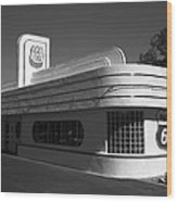 Route 66 Diner Wood Print
