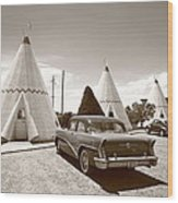 Route 66 Wigwam Motel Wood Print
