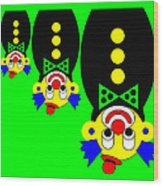 3 Russian Clown Dolls stand on the head for you Wood Print