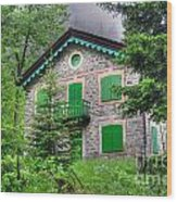 Rustic House Wood Print