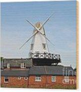 Rye Windmill Wood Print
