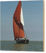Sailing Barge Wood Print by Gary Eason