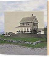 Sakonnet Point In Little Compton Rhode Island Wood Print