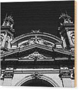 Santiago Metropolitan Cathedral Chile Wood Print