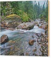 Sauk River Wood Print