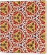 Seamlessly Tiled Kaleidoscopic Mosaic Pattern Wood Print