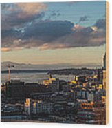 Seattle Dusk Wood Print