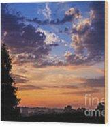 September Mountain Sunrise Wood Print