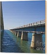 Seven Mile Bridge Florida Keys Wood Print