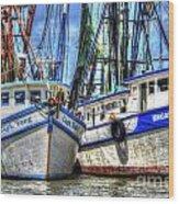 Shrimp Boats Season Wood Print