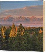Signal Mountain Sunrise Wood Print