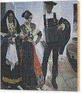 Sorolla, Joaqu�n 1863-1923. People Wood Print