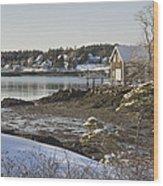 South Bristol On The Coast Of Maine Wood Print