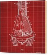 Space Capsule Patent 1959 - Red Wood Print