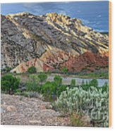 Spring Storm Over Split Mountain Dinosaur National Monument Wood Print
