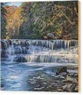 Squaw Rock - Chagrin River Falls Wood Print