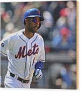 St Louis Cardinals V New York Mets Wood Print