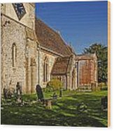 St Marys Church Kintbury Wood Print