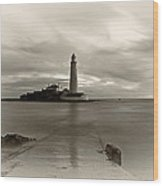 St Marys Lighthouse Wood Print