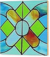 Stained Glass Window Wood Print by Janette Boyd