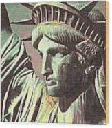 Statue Liberty Wood Print