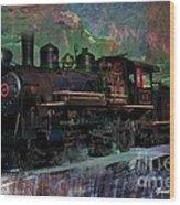 Steam Locomotive Wood Print by Gunter Nezhoda