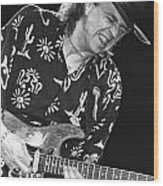 Guitarist Stevie Ray Vaughan Wood Print