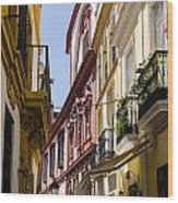 Streets Of Seville - Magic Colours Wood Print