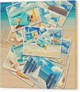 Summer Postcards Wood Print by Amanda Elwell
